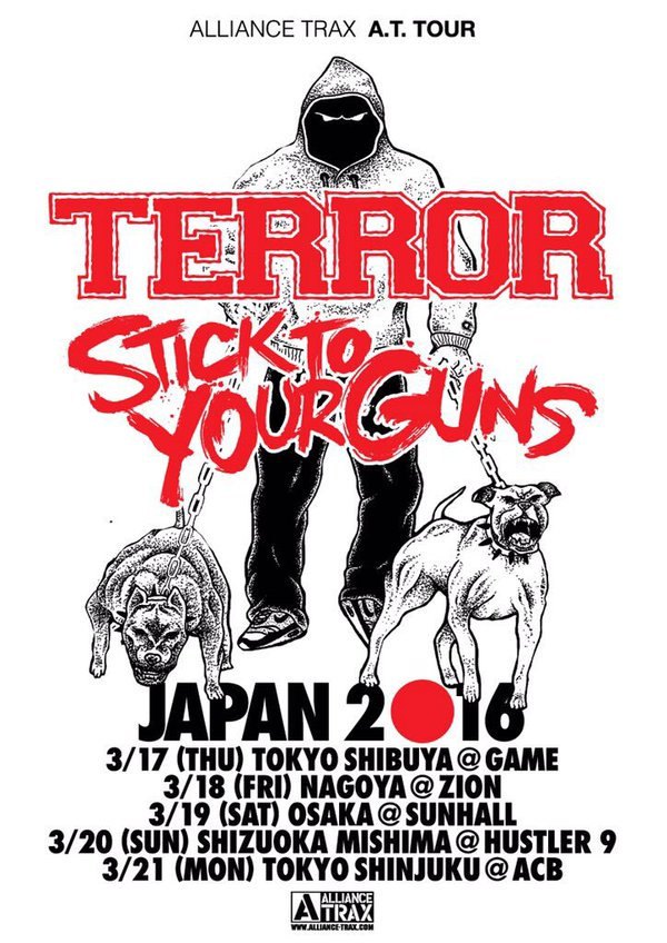 ALLIANCE TRAX A.T. TOUR TERROR STICK TO YOUR GUNS JAPAN 2016