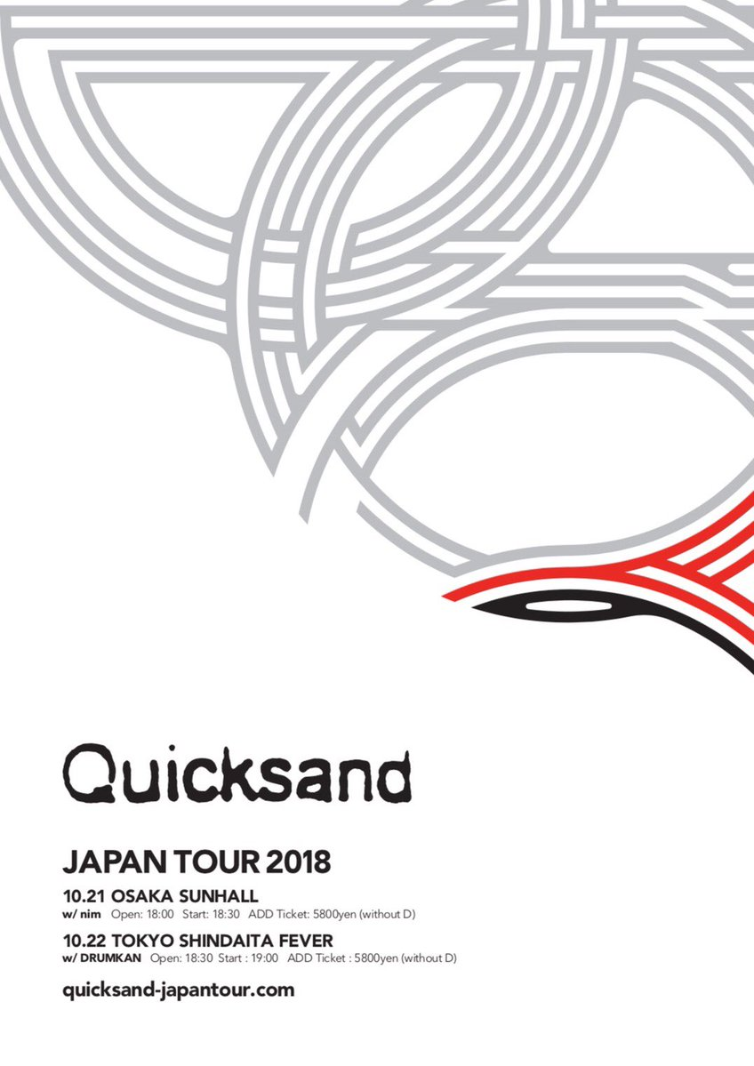 Quicksand  Japan  Tour 2018