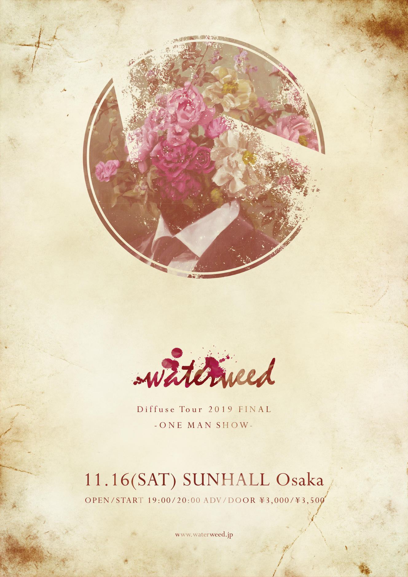 Diffuse Tour 2019 FINAL waterweed -ONE MAN SHOW-
